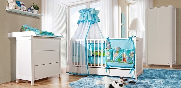 babyzimmer komplett weiss birke basic 5 tlg bett. Black Bedroom Furniture Sets. Home Design Ideas