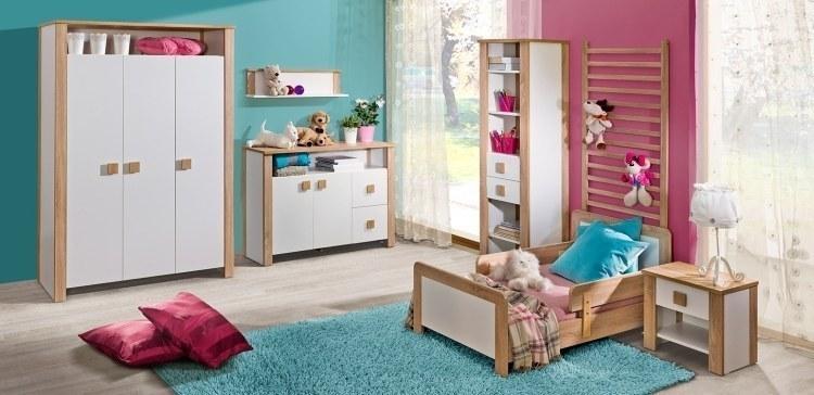 jugendzimmer komplett weiss 5 tlg bett matratze kleiderschrank schreibtisch ebay. Black Bedroom Furniture Sets. Home Design Ideas