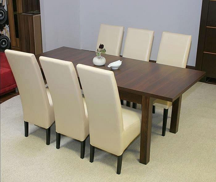essgruppe esstisch mit 6 st hlen tisch 160 cm 6 st hle wei oder schwarz neu. Black Bedroom Furniture Sets. Home Design Ideas
