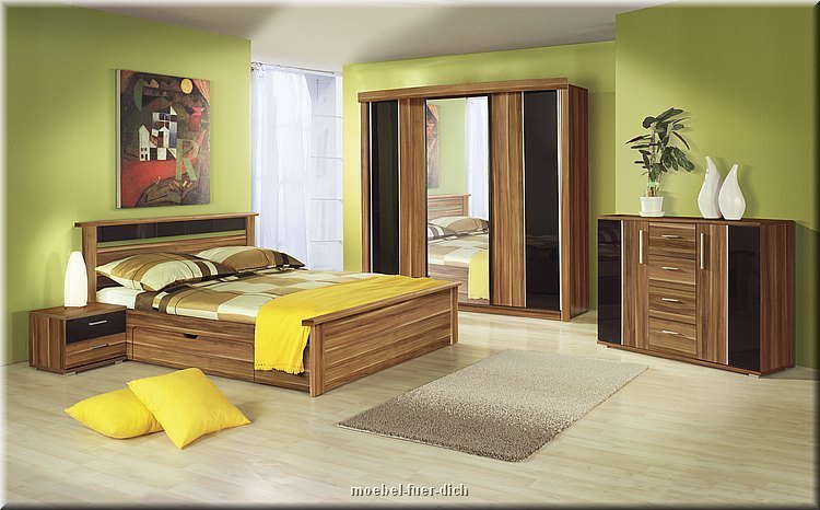 Komplettes Schlafzimmer Dublin Hochglanz Weiss Schwarz | Ebay