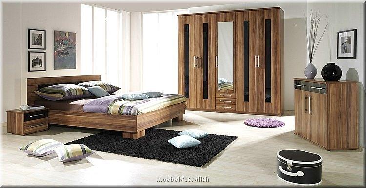 komplett schlafzimmer dublin hochglanz grau / schwarz mit