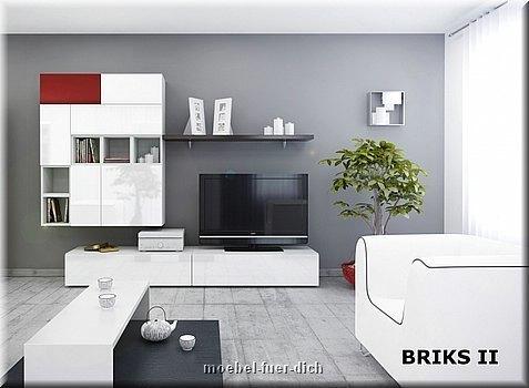 12 teilige designer hochglanz wohnwand briks i modulare anbauwand farbauswahl ebay. Black Bedroom Furniture Sets. Home Design Ideas