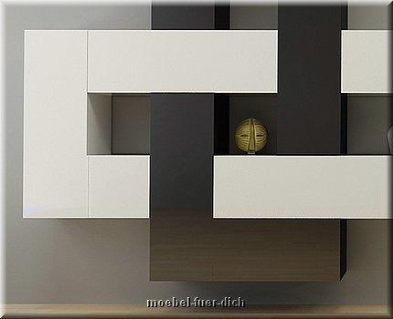 12 teilige designer hochglanz wohnwand briks i m bel f r. Black Bedroom Furniture Sets. Home Design Ideas