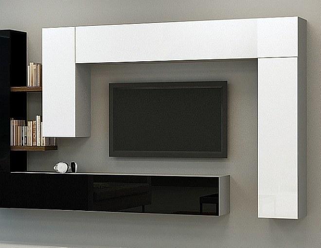 Moderne wohnwand modulare anbauwand briks vii hochglanz - Wohnwande exklusiv ...