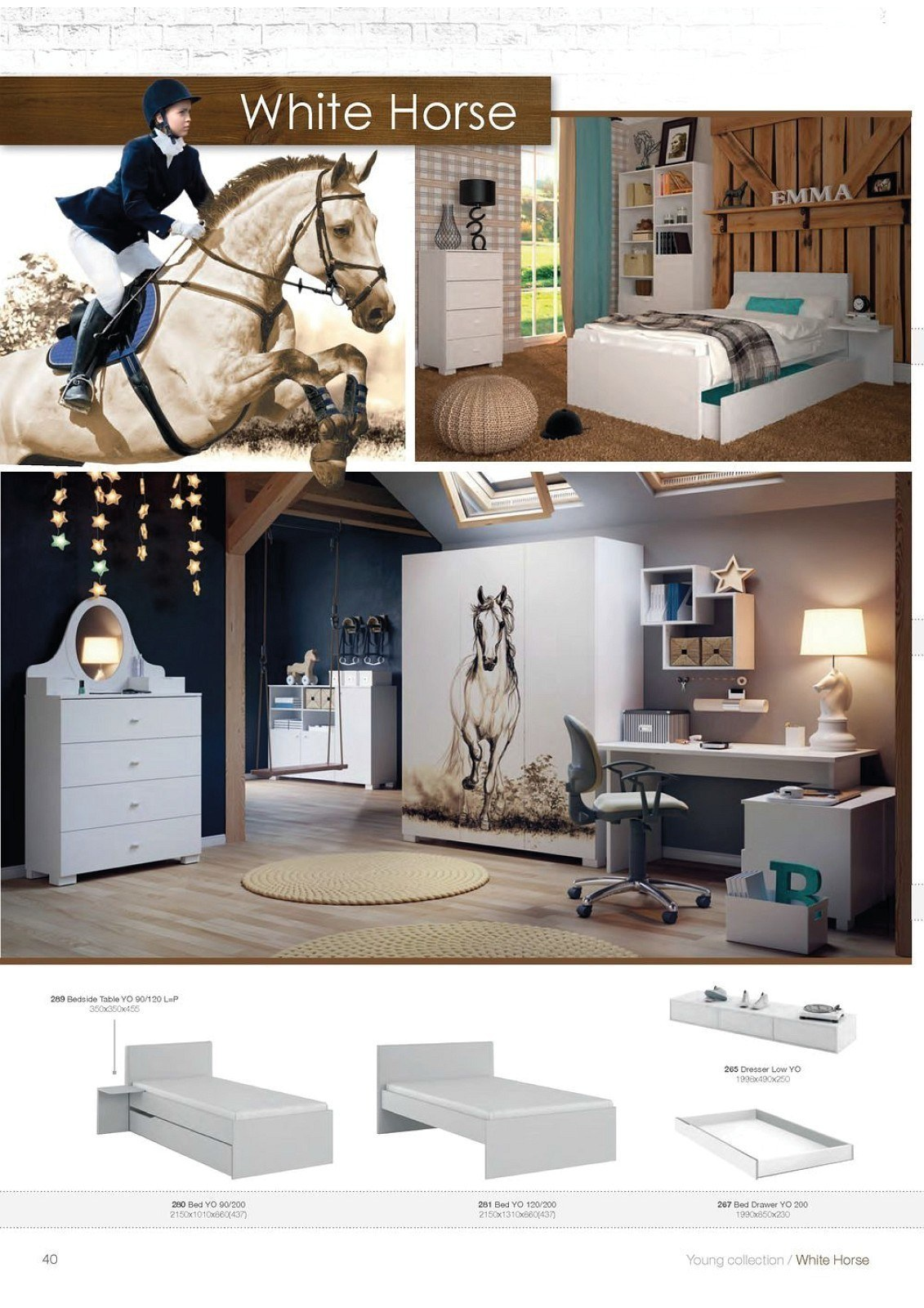 white horse von meblik m bel f r pferdeliebhaber m bel f r dich online shop. Black Bedroom Furniture Sets. Home Design Ideas
