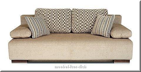 schlafsofa hato mit bettkasten federkern stoff und farbauswahl. Black Bedroom Furniture Sets. Home Design Ideas