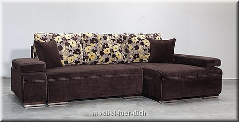 ecksofa schlafcouch hato mit federkern bettkasen stoff und farbe w hlbar ebay. Black Bedroom Furniture Sets. Home Design Ideas
