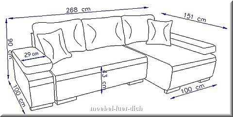 h he 90 cm sitzh he 43 cm schlaffl che 146 x 210 cm das sofa kann. Black Bedroom Furniture Sets. Home Design Ideas