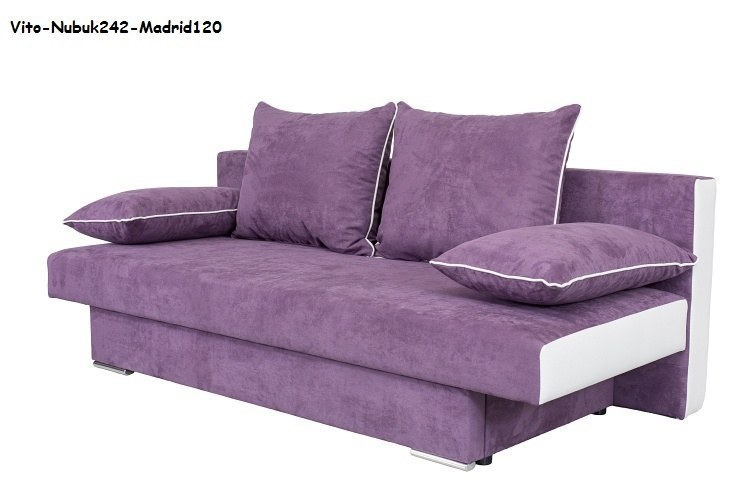 elegantes bettsofa schlafsofa vito mit federkern bettkasten und farbauswahl ebay. Black Bedroom Furniture Sets. Home Design Ideas