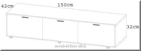 Moderne hochglanz wohnwand beta mit led beleuchtung for Wohnwand 150 cm