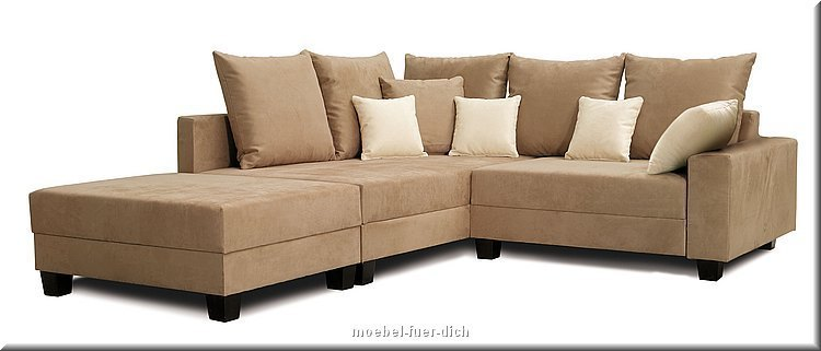 ecksofa mit bettfunktion federkern couch. Black Bedroom Furniture Sets. Home Design Ideas