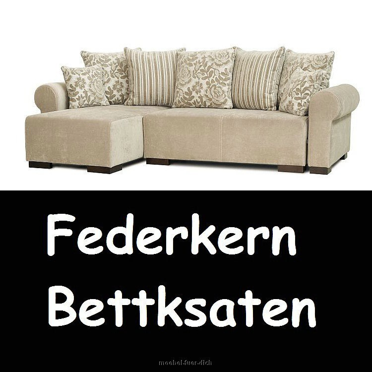 ecksofa schlafsofa dakota soft mit bettkasten federkern ebay. Black Bedroom Furniture Sets. Home Design Ideas