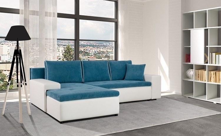 moderne polsterecke ecksofa leon mit bettkasten schlaffunktion farbauswahl ebay. Black Bedroom Furniture Sets. Home Design Ideas