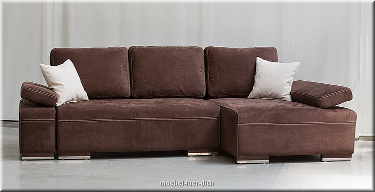 elegant corner sofa sofabed hato with pull out bed sprung microfibre or placket ebay. Black Bedroom Furniture Sets. Home Design Ideas