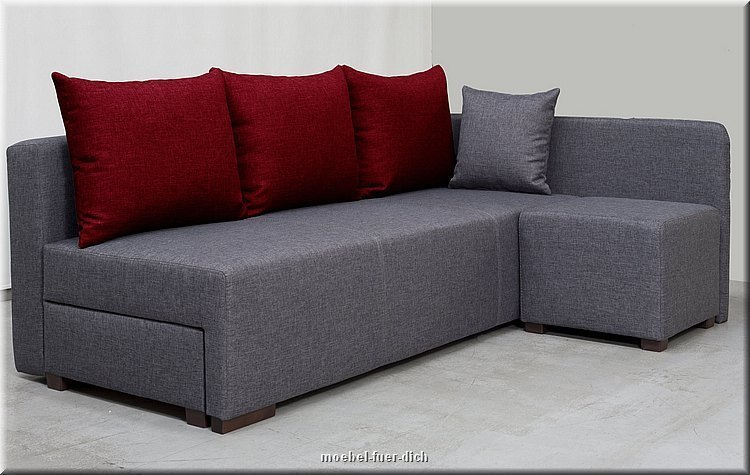 kleine polsterecke hilton ecksofa mit hocker m bel f r dich online shop. Black Bedroom Furniture Sets. Home Design Ideas