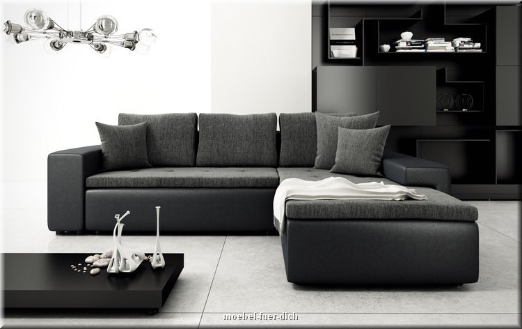 wohnlandschaft ecksofa linz moderne polsterecke mit schlaffunktion ebay. Black Bedroom Furniture Sets. Home Design Ideas