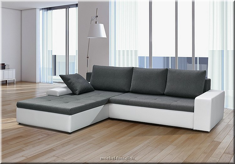 grosses designer ecksofa porto eckcouch sofa mit schlaffunktion m bel f r dich online shop. Black Bedroom Furniture Sets. Home Design Ideas