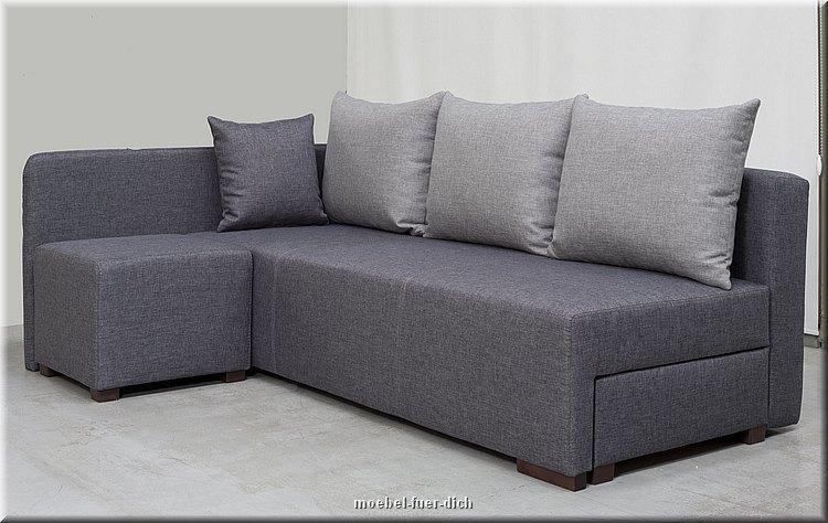 kleine polsterecke hilton ecksofa mit hocker m bel f r. Black Bedroom Furniture Sets. Home Design Ideas