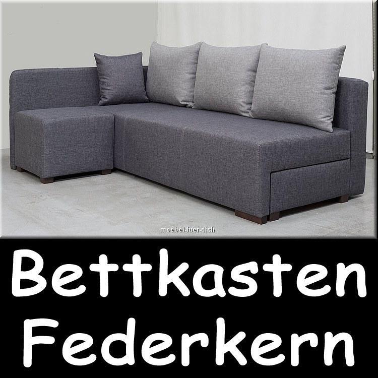 modernes ecksofa polsterecke hilton mit hocker ebay. Black Bedroom Furniture Sets. Home Design Ideas