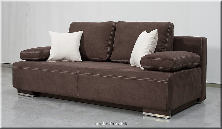 Edles bettsofa schlafsofa hato mit bettkasten federkern for Bettsofa mit bettkasten