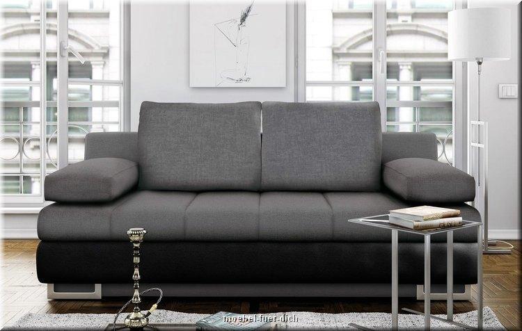 Schlafsofa mit bettkasten torens sofa bettcouch mit for Schlafsofa designklassiker