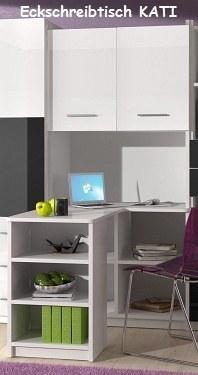 jugendzimmer kinderzimmer kati hochglanz wei grau. Black Bedroom Furniture Sets. Home Design Ideas