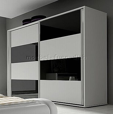 hochglanz schlafzimmer mit designerbett m bel f r dich online shop. Black Bedroom Furniture Sets. Home Design Ideas