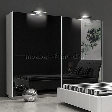 hochglanz schlafzimmer komplett rivabox boxspringbett schrank 2 nachttische ebay. Black Bedroom Furniture Sets. Home Design Ideas