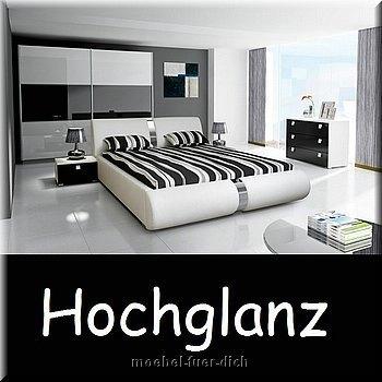 Schlafzimmer bei ebay  NOVALIS Hochglanz weiß Schlafzimmer komplett | eBay