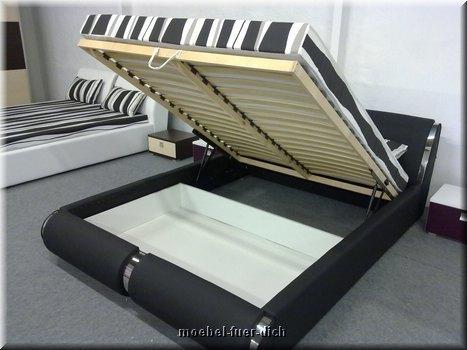 nova led elegantes polsterbett mit led beleuchtung. Black Bedroom Furniture Sets. Home Design Ideas