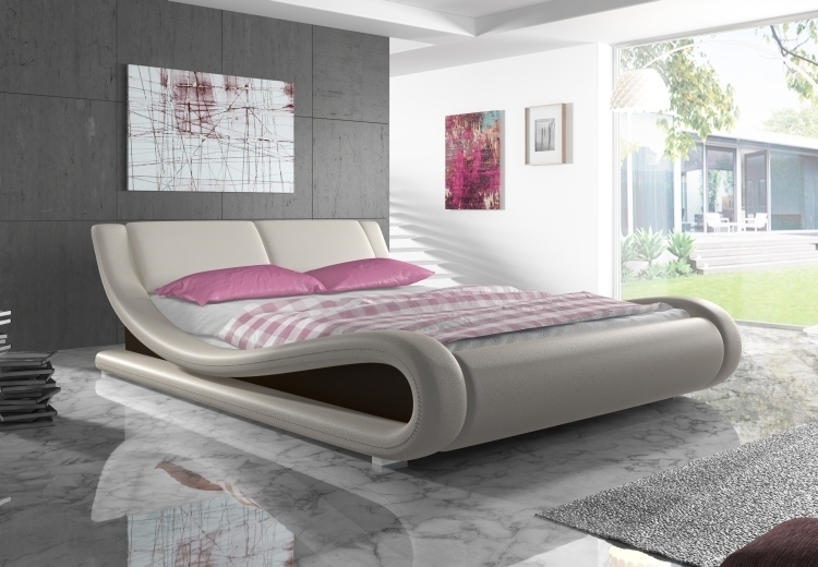 kunstleder bett designer bett ottawa mit farbauswahl 180x200 cm ebay. Black Bedroom Furniture Sets. Home Design Ideas