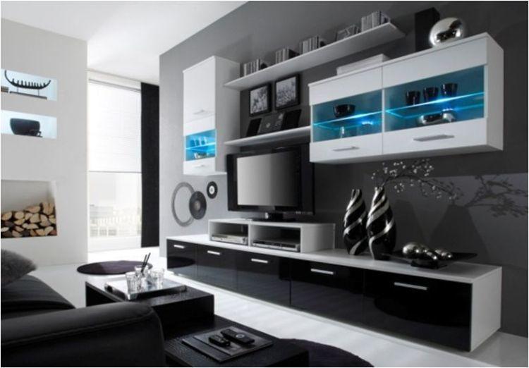 moderne hochglanz wohnwand beta mit led beleuchtung - möbel für, Hause ideen