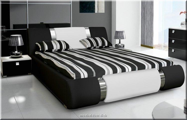 nova ii exklusives polsterbett aus kunstleder m bel f r dich online shop. Black Bedroom Furniture Sets. Home Design Ideas