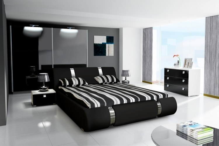 kleiderschrank schwebet renschrank novalis hochglanz schwarz gr e w hlbar ebay. Black Bedroom Furniture Sets. Home Design Ideas