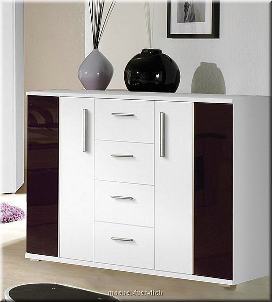 komplettes schlafzimmer dublin weiss schwarz hochglanz. Black Bedroom Furniture Sets. Home Design Ideas