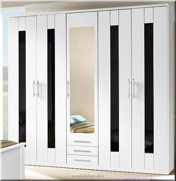 Kleiderschrank weiß schwarz hochglanz  Komplettes Schlafzimmer Dublin HOCHGLANZ Weiss Schwarz | eBay