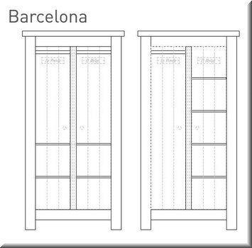 babyzimmer barcelona kiefer massiv kinderzimmer bett wickelkommode schrank ebay. Black Bedroom Furniture Sets. Home Design Ideas