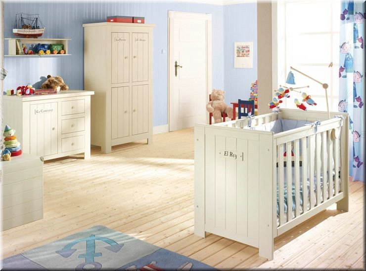 kinderzimmer babyzimmer barcelona kiefer massiv bett wickelkommode schrank ebay. Black Bedroom Furniture Sets. Home Design Ideas