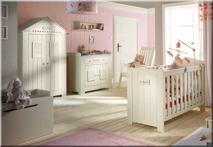 babyzimmer kiefer massiv marseille bett kommode mit wickelaufsatz schrank. Black Bedroom Furniture Sets. Home Design Ideas