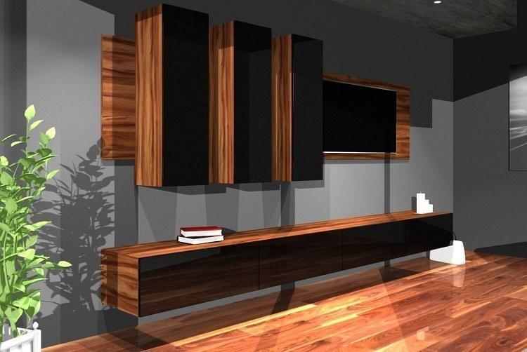 Designer wohnwand hochglanz medienwand box plan 1 in for Wohnwande designer