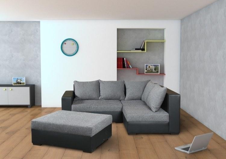 modernes ecksofa city mit gro em hocker m bel f r dich. Black Bedroom Furniture Sets. Home Design Ideas