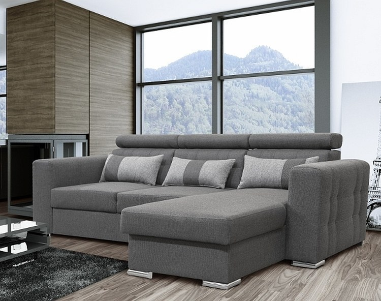 modernes ecksofa maggio mit schlaffunktion bettkasten stoff und farbauswahl. Black Bedroom Furniture Sets. Home Design Ideas