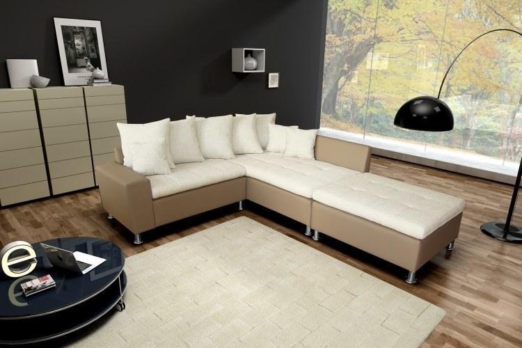 ecksofa polsterecke teddy mit hocker farbe und stoff. Black Bedroom Furniture Sets. Home Design Ideas