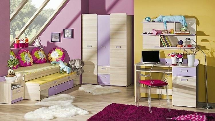 Jugendzimmer lavendel