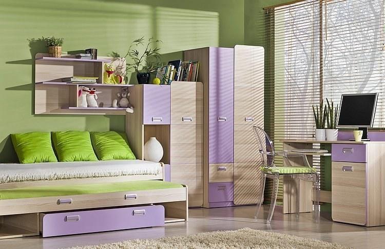 Jugendzimmer mit Doppelbett