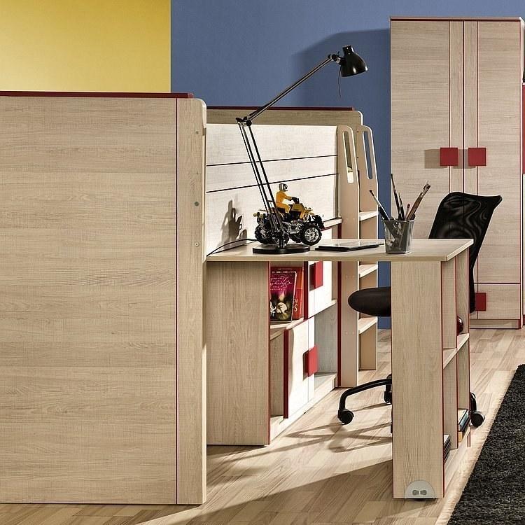 Max jugendzimmer komplett set mit hochbett mit for Jugendzimmer hochbett schreibtisch