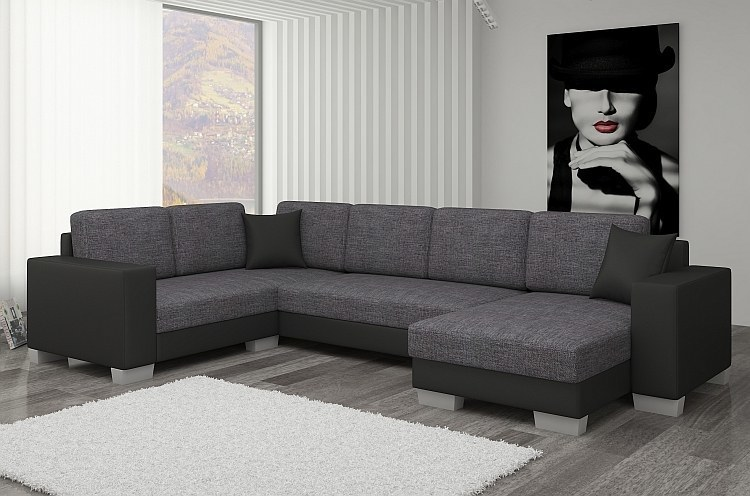 ecksofa in u form marcelo mit schlaffunktion. Black Bedroom Furniture Sets. Home Design Ideas