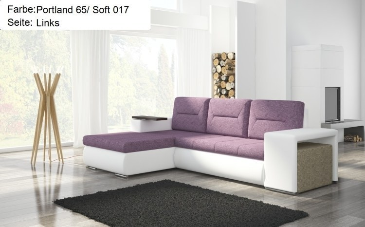 designer ecksofa mit hocker schlaffunktion bettkasten eckcouch polsterecke sofa ebay. Black Bedroom Furniture Sets. Home Design Ideas