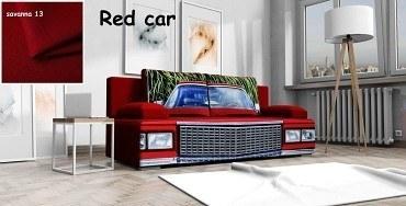 schlafsofa Carlo 3 red car