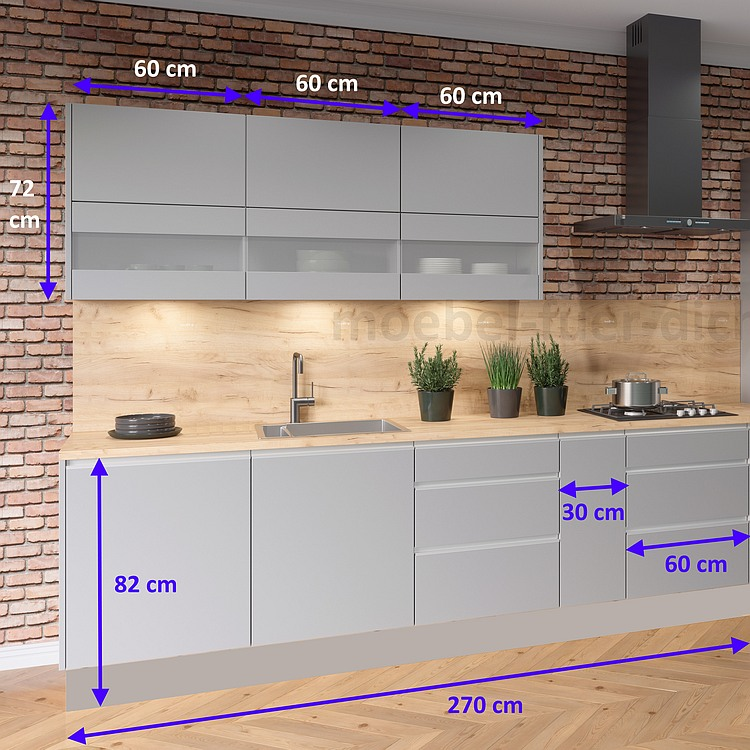 Einbauküche Campari 270 cm